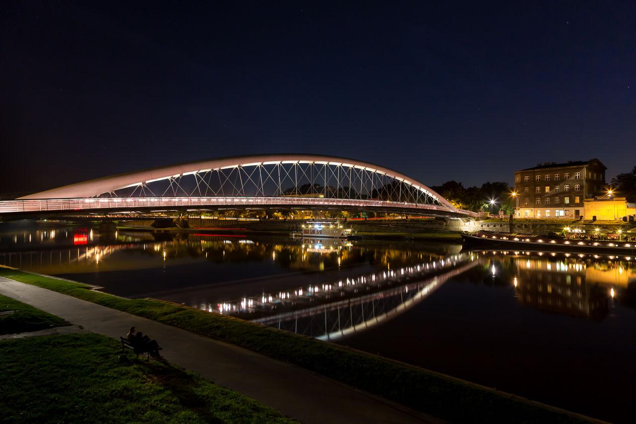 Kładka Ojca Bernatka bridge Krakow Poland
