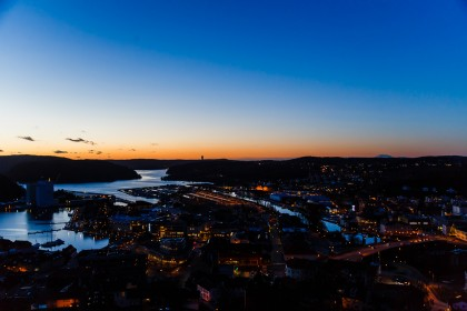 Halden by night